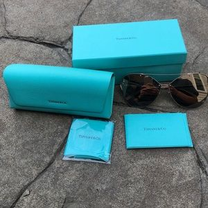 Tiffany&Co Paper Flowers Butterfly Gold Sunglasses